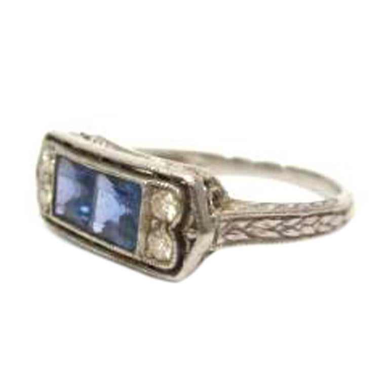 antique blue sapphire and ring at 1stdibs