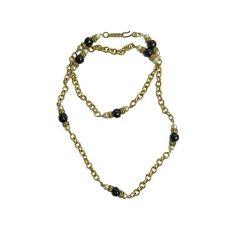 1970s Long Glass Bead Yves Saint Laurent Necklace