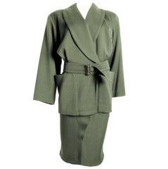 ALAIA Green Jacket & Skirt
