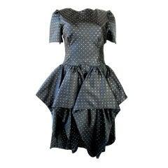 CHLOE 1980s Handkerchief Pleated Dress