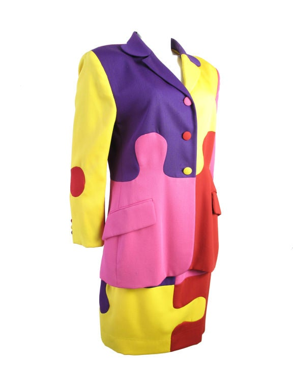 MOSCHINO Puzzle Suit In Good Condition In Austin, TX