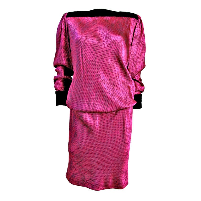 UNGARO Pink Dress 1