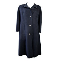 1980s GUCCI Black Wool Coat - sale