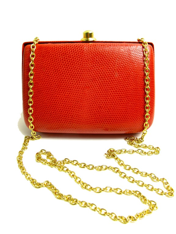 LIZARD Shoulder bag with chain 2