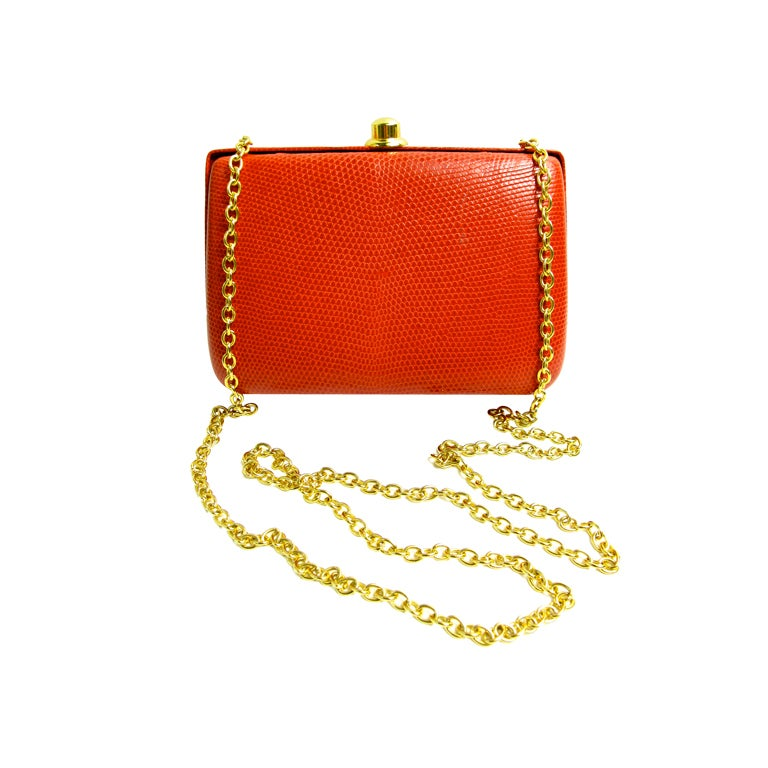 LIZARD Shoulder bag with chain 1