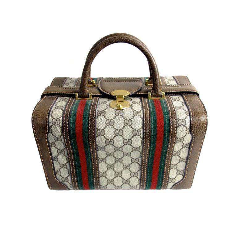 Gucci Logo Train Case At 1stdibs