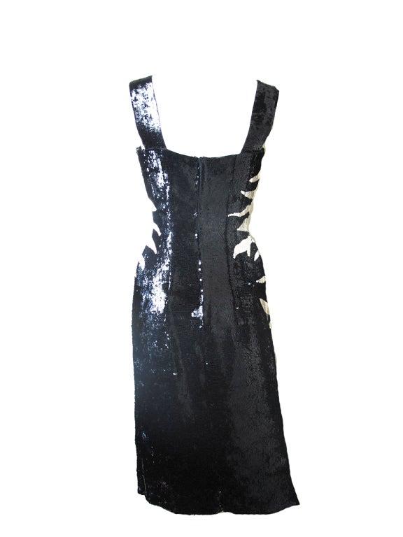 Howard Greer 1950s Sequin Cocktail Dress At 1stdibs