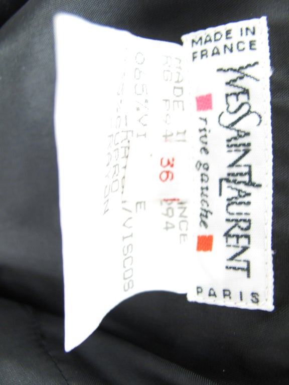 Yves Saint Laurent Rive Gauche velvet skirt and jacket For Sale 5