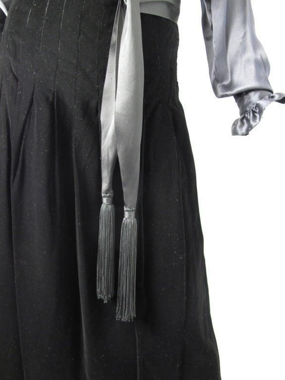 1960s Adolfo velvet skirt 3