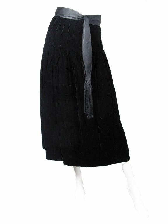 1960s Adolfo velvet skirt 2