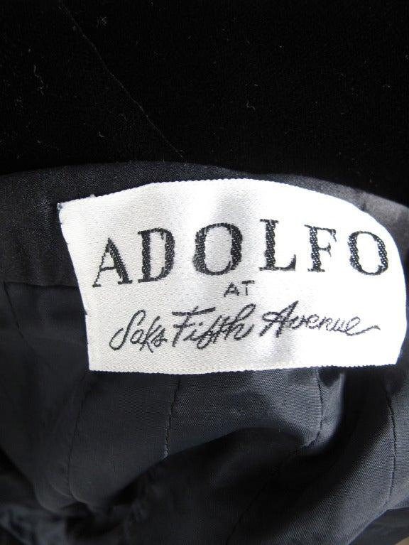 1960s Adolfo velvet skirt 5