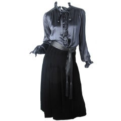 1960s Adolfo velvet skirt