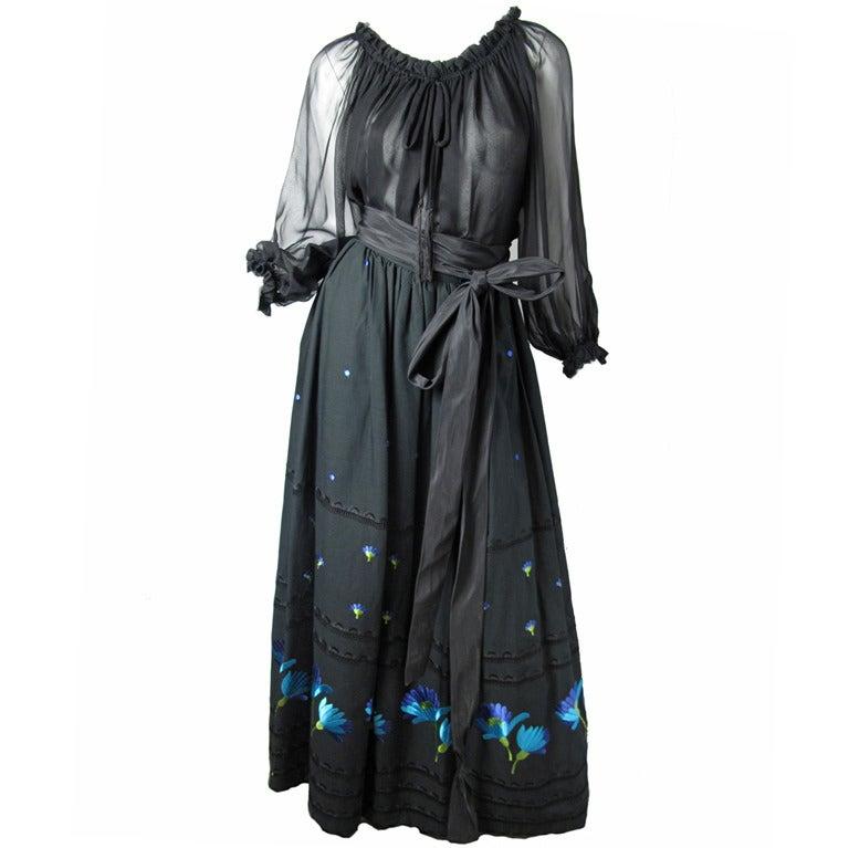 1960s Adolfo peasant  skirt 1