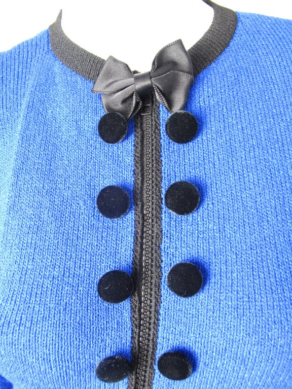 1970s Adolfo knit zipper dress - sale 2