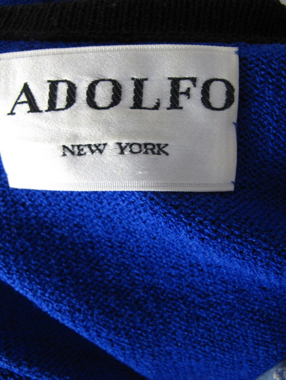 1970s Adolfo knit zipper dress - sale 5