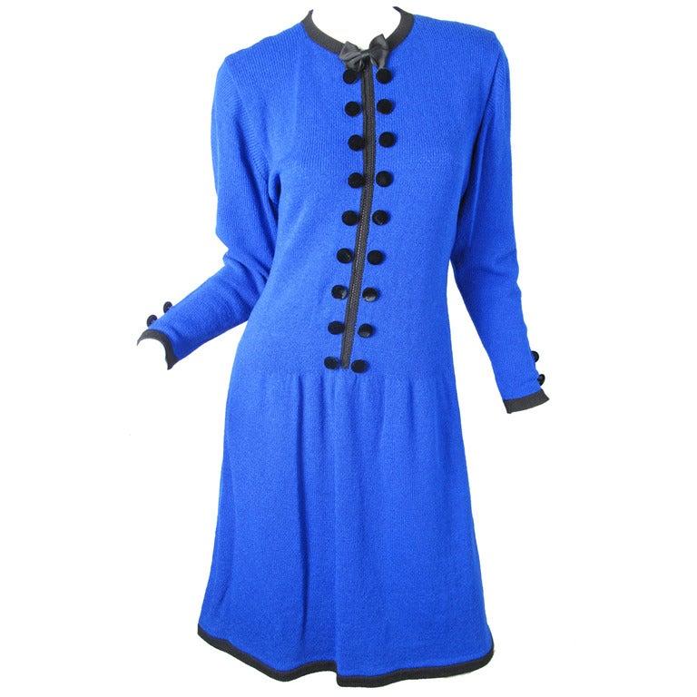 1970s Adolfo knit zipper dress - sale 1