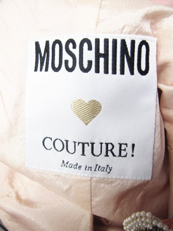 Rare Moschino Couture Tea For Two Cocktail Dress 6