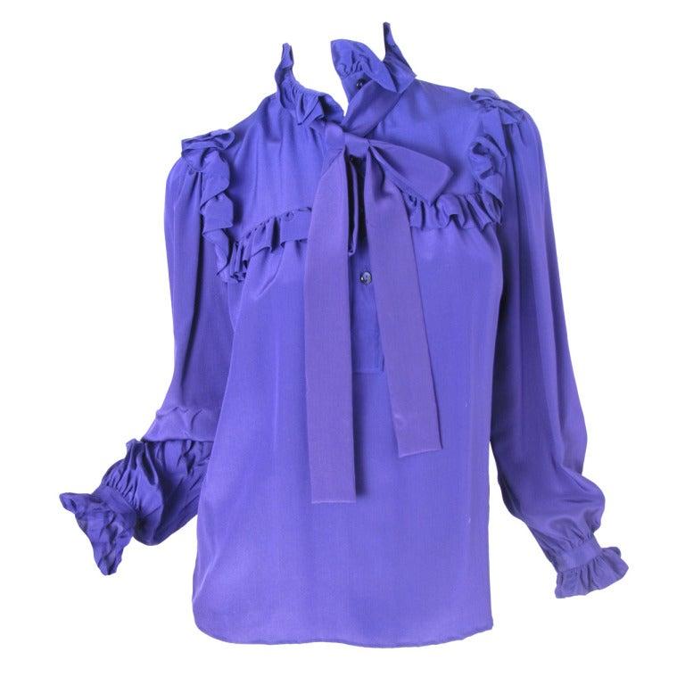 Ruffle Purple Blouse 53