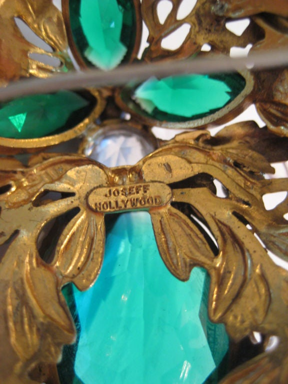 1940s Joseff of Hollywood Large Brooch  In Excellent Condition For Sale In Austin, TX