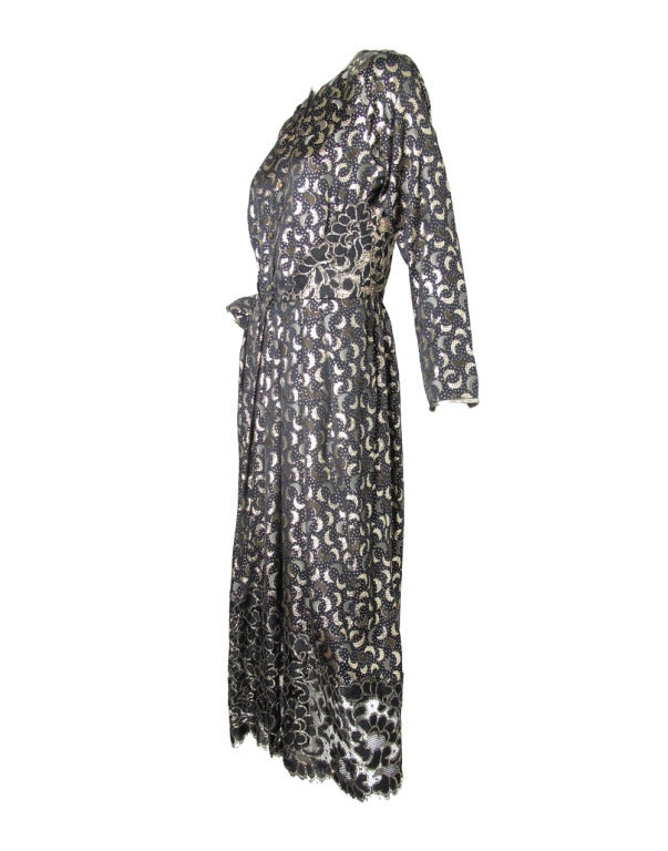 Women's 1970s Geoffrey Beene magical crescent moon gown For Sale