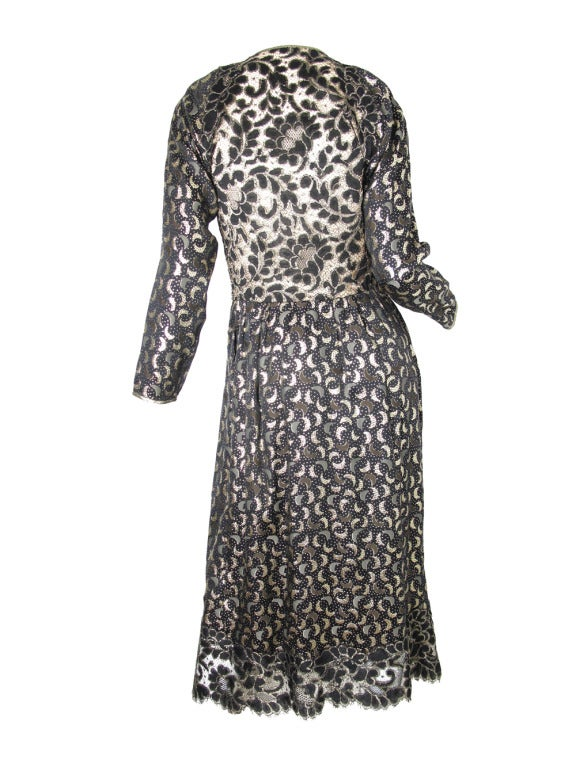 1970s Geoffrey Beene magical crescent moon gown For Sale 2