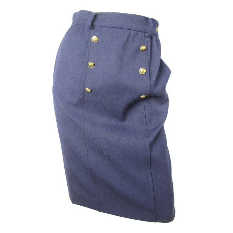 Valentino navy sailor skirt 1