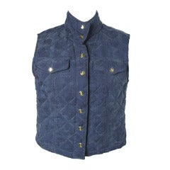 1970s GUCCI quilted vest
