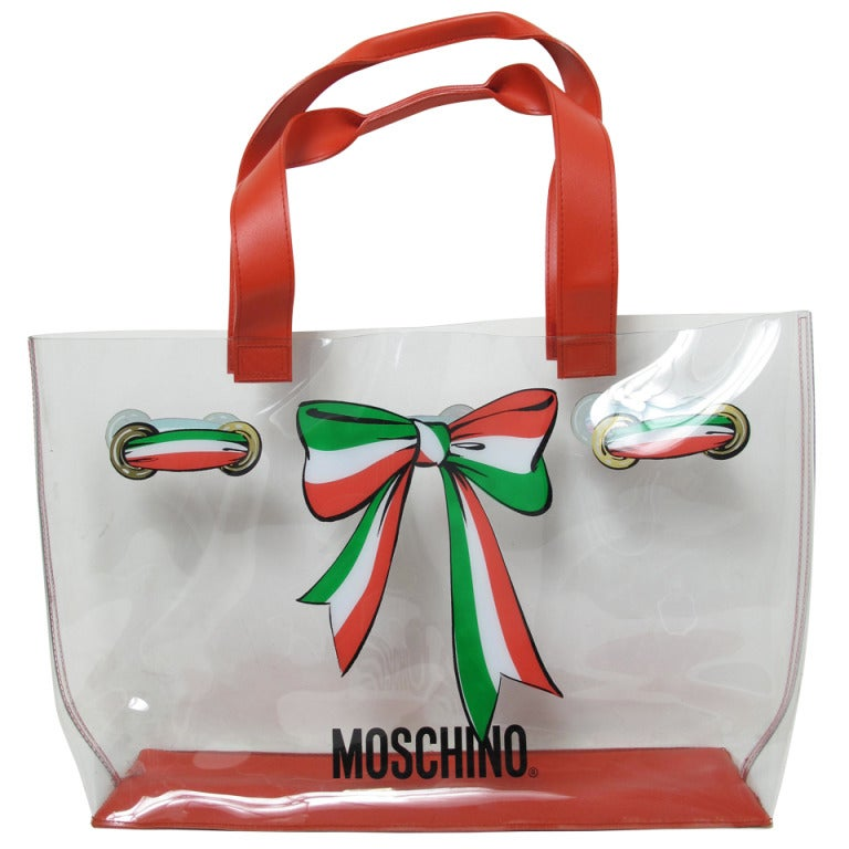 Moschino Clear Plastic Tote Bag For