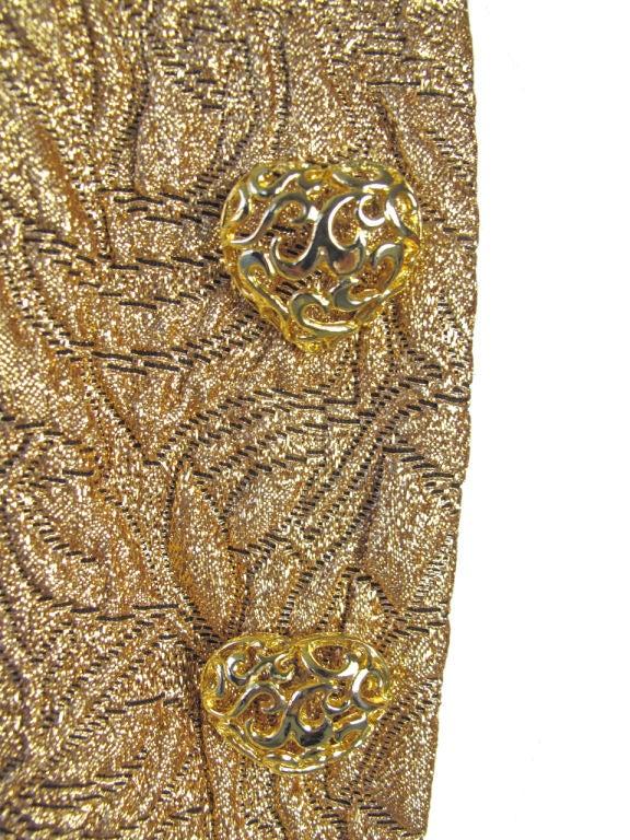 Yves Saint Laurent Gold Bolero With Heart Buttons 2