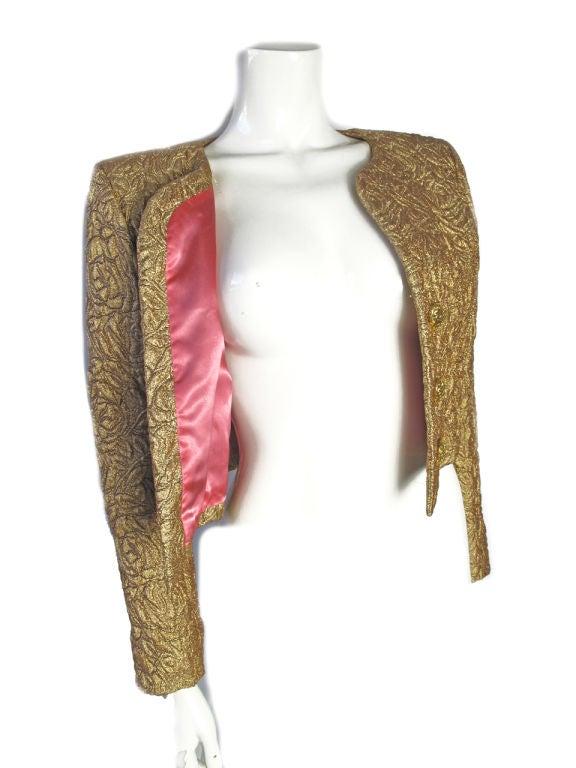 Yves Saint Laurent Gold Bolero With Heart Buttons 4