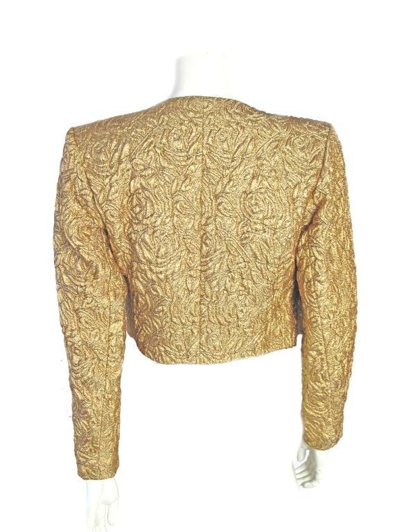 Yves Saint Laurent Gold Bolero With Heart Buttons 5