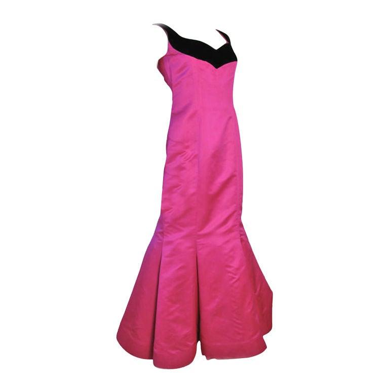 Scaasi Pink Ballgown Sale 1