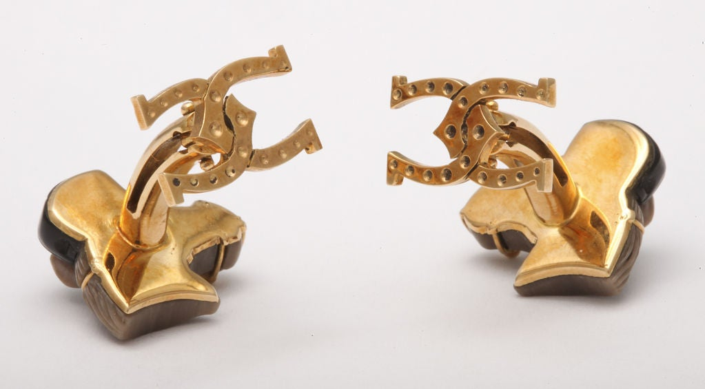 Contemporary Michael Kanners Horse Cufflinks For Sale