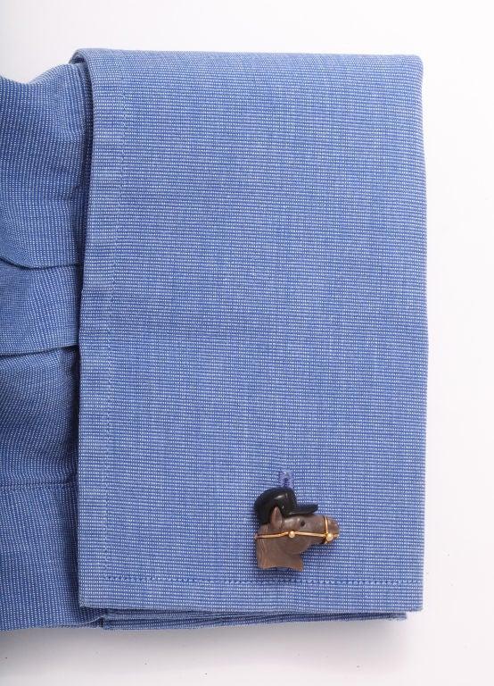 Men's Michael Kanners Horse Cufflinks For Sale
