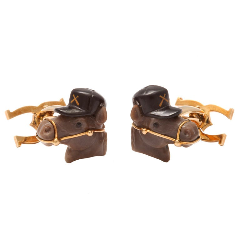 Michael Kanners Horse Cufflinks For Sale