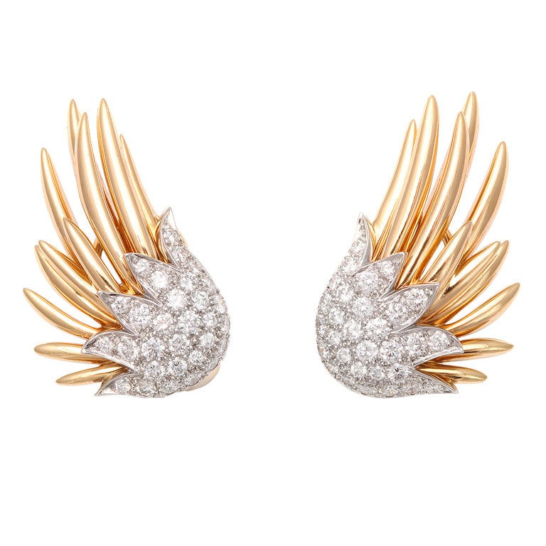 Tiffany And Co Jean Schlumberger Quot Flame Quot Earclips At 1stdibs