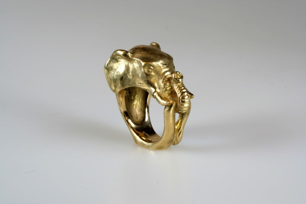 Michael Kanners Gold Elephant Ring 4