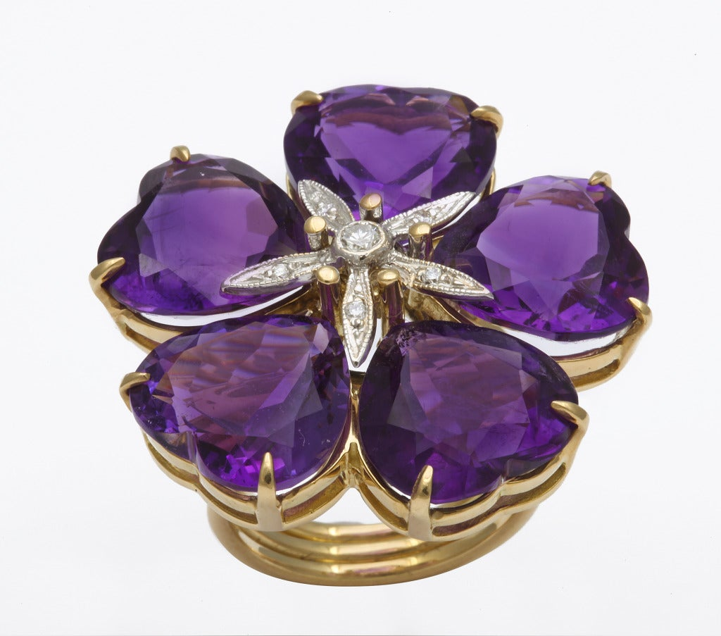 Michael Kanners Amethyst Flower Ring 2