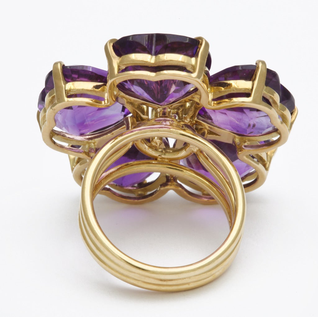 Michael Kanners Amethyst Flower Ring 5