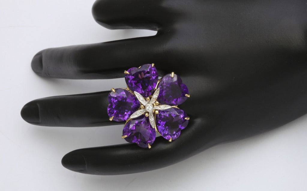 Michael Kanners Amethyst Flower Ring 6
