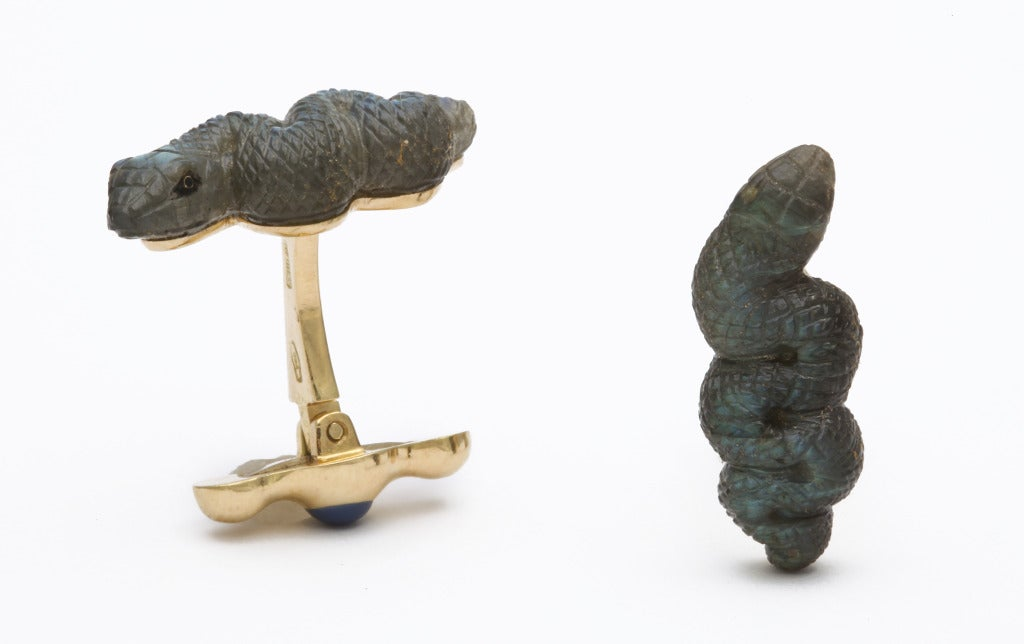 Contemporary Michael Kanners Snake Cufflinks For Sale