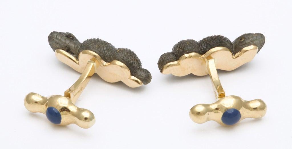 Men's Michael Kanners Snake Cufflinks For Sale
