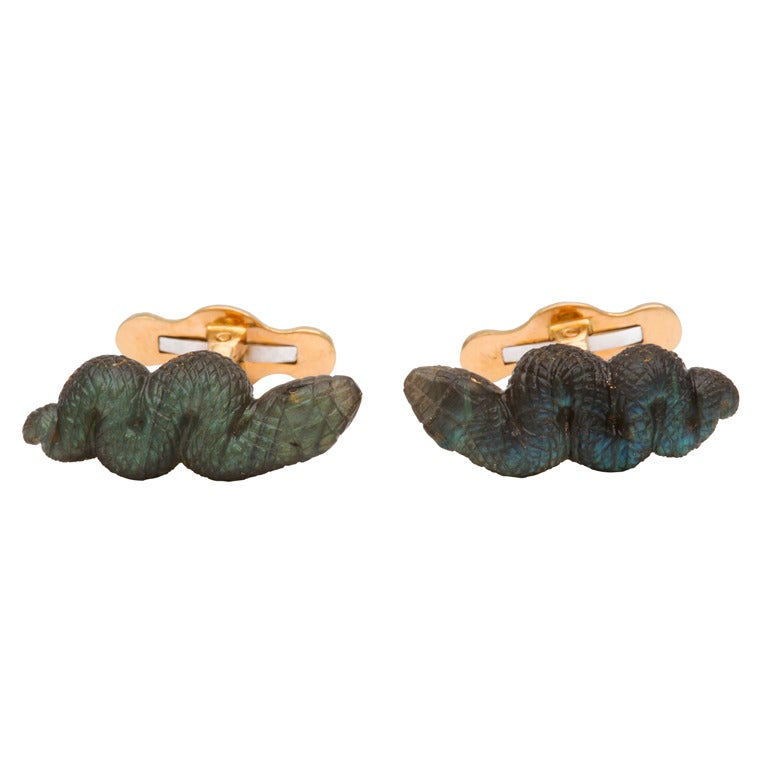 Michael Kanners Snake Cufflinks For Sale
