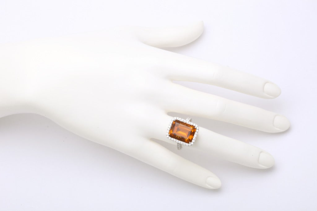 Madeira Citrine Diamond Ring 3