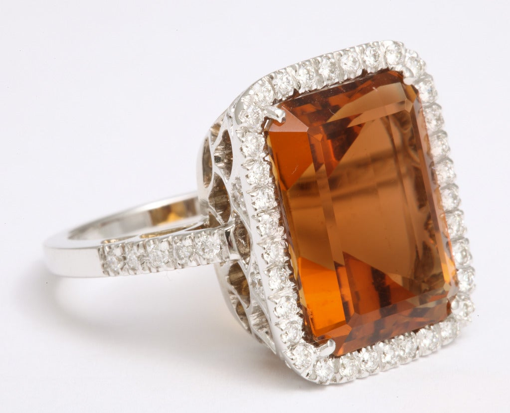 Madeira Citrine Diamond Ring 4