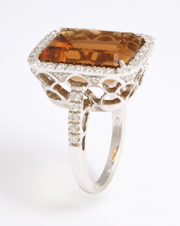 Madeira Citrine Diamond Ring 5