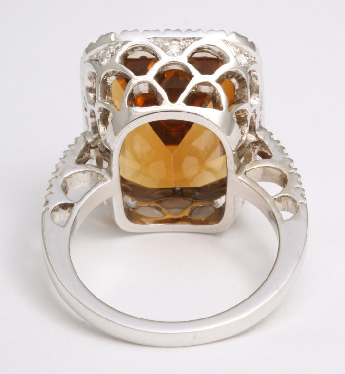 Madeira Citrine Diamond Ring 6