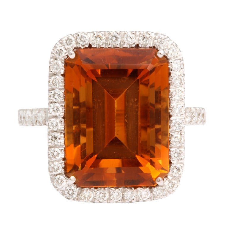 Madeira Citrine Diamond Ring 1