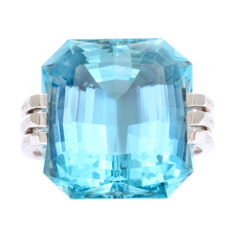 Aquamarine Diamond Ring by Tanagro