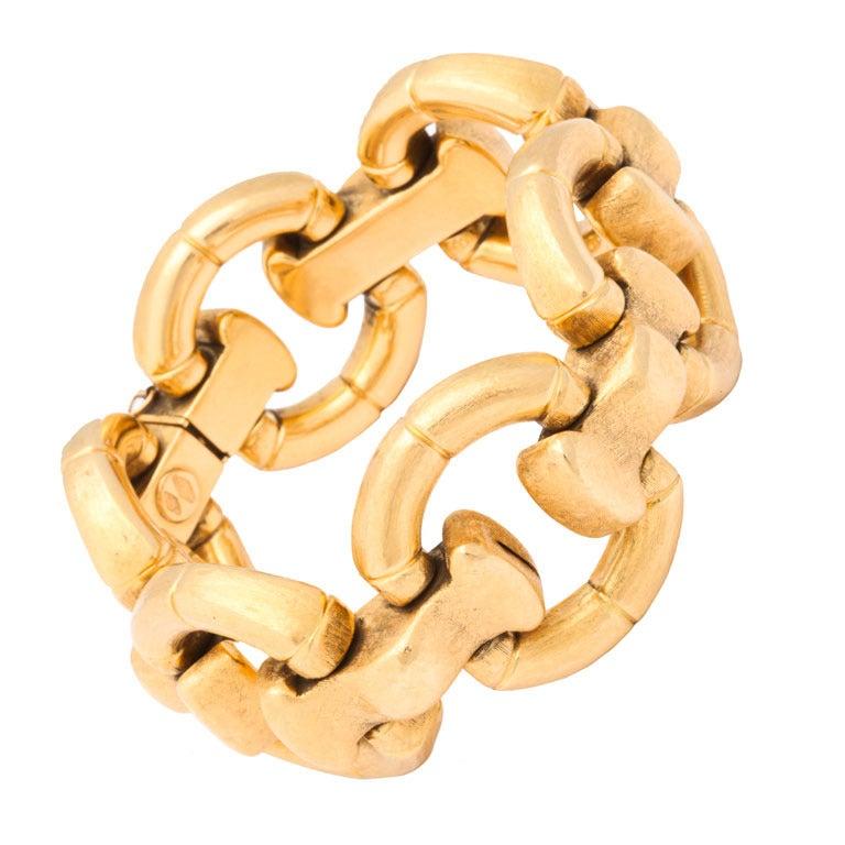 Italian Link Charm Bracelet: Italian Gold Bracelet At 1stdibs